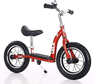 Kids Balance Bike, No Pedal Toddler Bike with Carbon Steel Frame Adjustable Handlebar and Seat 12inch Toddler Walking Bicycle for Kids 2 to 6 Years Old