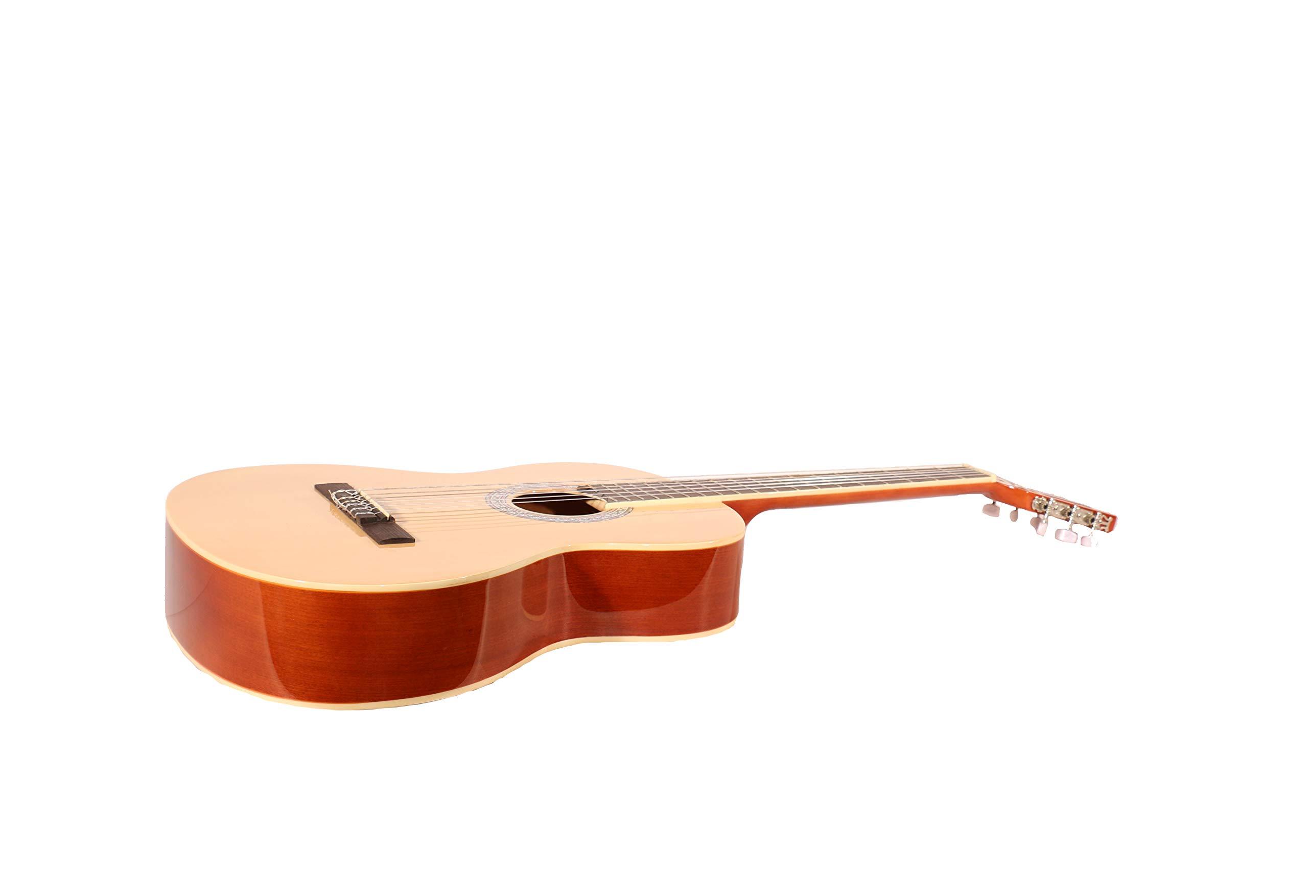 Guitarra clásica ffalstaff modelo C40 con bolsa acolchada, muda de ...