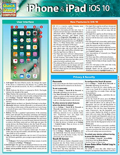 iPhone & iPad iOS 10: QuickStudy Laminated Reference Guide (English Edition)