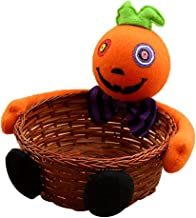 Nanlyhgs Creative Halloween Scary Doll Candy Storage Basket Halloween Party Gift Holder Fruits Container Basket Plush Bamb...