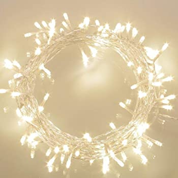 Koopower 36ft 100 LED Battery Operated String Lights with Timer on 11M Outdoor Clear String Lights(8 Modes, IP65 Waterproof, Warm White)