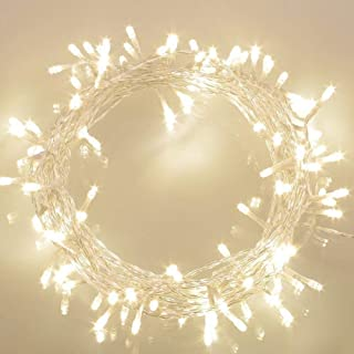 koopower 36ft 100 LED Battery Operated String Lights with Timer on 11M Outdoor Clear String Lights(8 Modes, IP65 Waterproo...