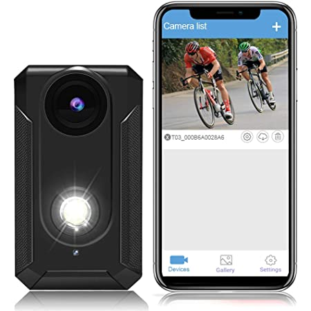 TEENTOK Bike Camera with Front Light, Full HD Front-View WiFi Bike Light Cycling Camera, 400 Lumen Super Bright Bike Headlight, 3 Light Mode Options
