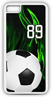 iPhone 7 Plus 7+ Phone Case Soccer SC011Z by TYD Designs in White Rubber Choose Your Own Or Player Jersey Number 89