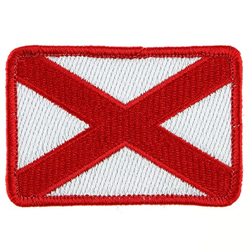 LiZMS Tactical Patch : Alabama Flag - Hook and Loop Fasteners