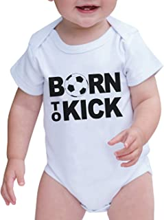 7 ate 9 Apparel Baby Boy's Born to Kick Onepiece