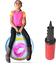 WALIKI Toys Hopper Ball for Teens (Hippity Hop Ball, Hopping Ball, Bouncy Ball with Handles, Sit & Bounce, Kangaroo Bouncer, Jumping Ball, Tie-Dye, Pump Included)