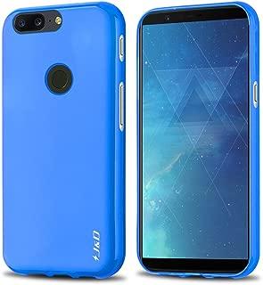 J&D Case Compatible for OnePlus 5T Case, [Drop Protection] [Slim Cushion] Shock Resistant Protective TPU Slim Case for OnePlus 5T Bumper Case - Blue