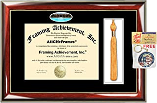 University of Central Florida Tassel Diploma Frame UCF Campus Picture Double Degree Plaque Tassel Holder Framing Graduation Gift Bachelor Master MBA Doctorate PHD Certificate Case