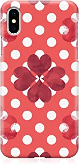 Loud Universe Case for iPhone XS Wrap around Edges Valentines Day Couples Love Red Flower Heart Pattern Sleek Design Heavy...