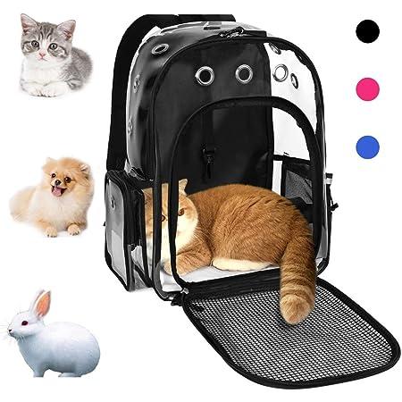 POPETPOP Mochila Transportadora para Mascotas Mochila Transportadora para Perros Honda Ajustable para Gatos Delanteros Mochila para Viaje Gris Talla L