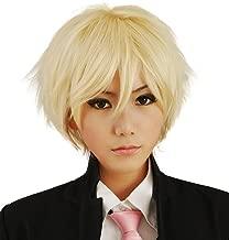 HH Building Cosplay Wig Men's Short Layered Halloween Costume Hair Wig (Blonde)