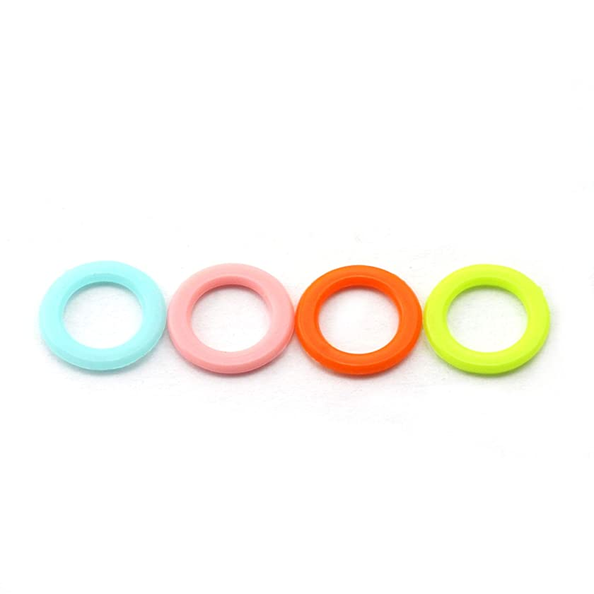 NX Garden 100pcs Stitch Marker Ring DIY Knitting Tools Crochet Locking Sewing Accessories Mixed Color Plastic Knit Counting Ring Medium Size 12mm