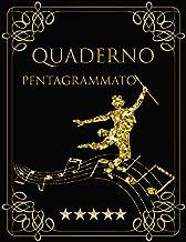 Quaderno pentagrammato: Quaderno di musica - copertina d'oro :Copertina musica Pentagramma per musica a quaderno, 120 pagi...
