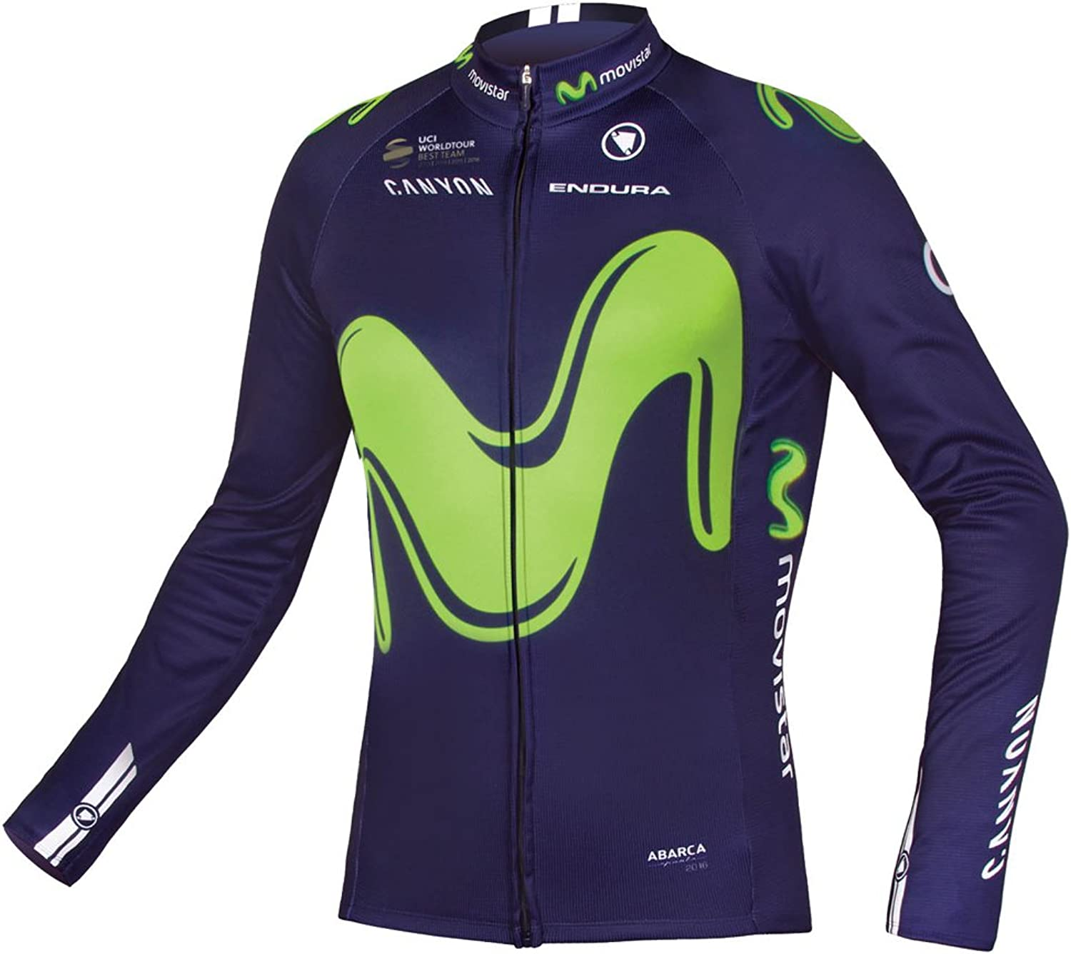 Endura Official Movistar Team Replica Mens Long Sleeve Cycling Jersey