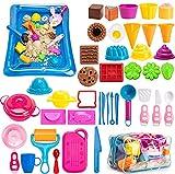 PRDLIMG Play Sand for Kids, Ice Cream Set,3lbs Magic...