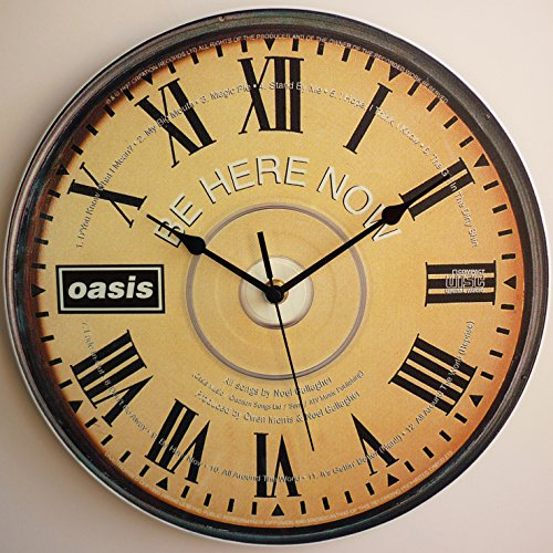 The Oasis Collection - Be Here Now CD ART – Orologio da parete in vinile LP da 30,5 cm realizzato a mano