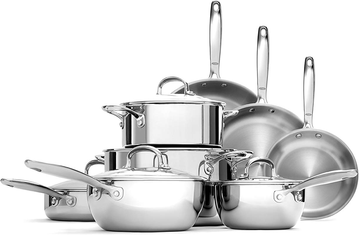 OXO Good Grips Tri Ply Stainless Steel Pro 13 Piece Set