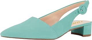 YDN Women Pointed Toe Block Low Heels Slingback Dress Pumps Slip On Buckled Office Sandal Shoes