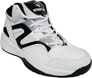 Spartan White Atlas Basketball Shoes