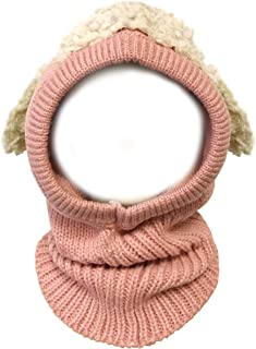 Wrapables Winter Warm Knitted Animal Ears Earflap Hood Hat for Baby and Toddlers Pink