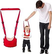 سرج أطفال من YOMYM مطبوع عليه سلة (حمراء)، لجام المشي للأطفال - إكسسوار الكنغر للأولاد والبنات، قابل للتعديل مساعد سلامة أجنحة الأطفال