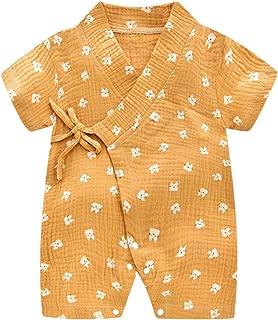 Baby Kimono Robe Newborn Cotton Yarn Bodysuit Romper Infant Japanese Pajamas 0-24 Months