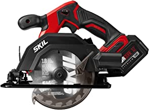 SKIL PWRCore 12 Brushless 12V Compact 5-1/2 Inch Circular Saw, Includes 4.0Ah Lithium Battery and PWRJump Charger - CR541802