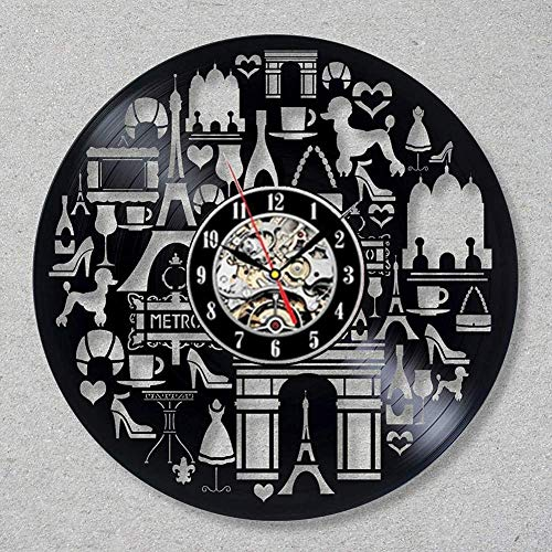 Vinyl Record Wandklok Modern Design Shopping Haven Cosmetica Parfum Decoratieve Winkel Vinyl Clock Wall Watch Home Decor-Type1