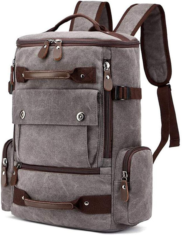 WYX Rucksack, Men es Leisure Large-Capacity Canvas Travel Rucksack Outdoor Sports Bag Large Capacity Multi-Funktion Bergsteigertasche,B