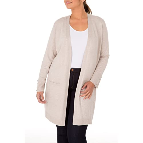 b1d06125312 89th + Madison Women s Comfy and Cozy Plus Size Duster Cardigan Sweater