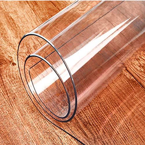 GOPG Transparente Tischdecke, PVC Wasserabweisend Ölbeständig Splash Filet Eckig Schutzfolie Geeignet für Esstische Kaffeetisch Wohnzimmer-40x50cm(16x20Zoll)-Dick:1.0mm