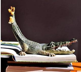 Statue Head Sculptures Crocodile Decoration Home Animal Props