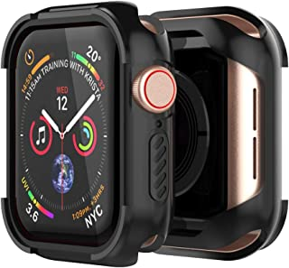 UMTELE Compatible with Apple Watch 4 Case Protector 44mm 40mm 2018, Shock Proof Protective Rugged Case Scratch Resistant Bumper Protector Cover Replacement for Apple Watch Series 4, 44mm