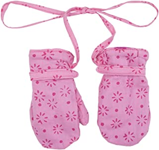 Shu-Shi Baby Toddler Girl Mittens Soft Warm Fleece Interior and String Attached, Pink/Hot Pink, XX Large (3T-4T)