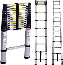 Corvids 4.4 m (14.5 ft) Ultra-Stable Aluminium Telescopic Ladder, EN-131 Certified, 13-Steps Folding Step Ladder for Multipurpose use: Home Improvement