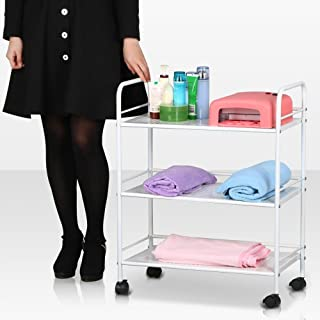New 3 Shelf Iron Cart Trolley Doctor Dentist Medical Trolly Spa Salon Equipment