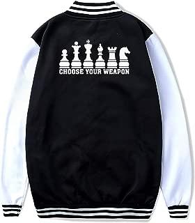 Chess Club Choose Your Weapon Teenage Casual Baseball Uniform Jacket Boys Girls Sport Coat