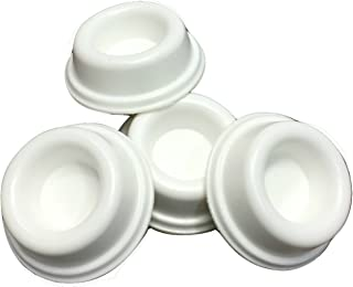 Rubber Door Stopper Bumpers (Pack of 4) White - Made in USA - Self Adhesive Wall Protectors, Prevent Damage to Walls from Door Knobs Handles, Guard and Shield