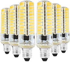 Home Led Bulbs 6PCS E11 5W AC 220-240V 80LEDs SMD 5730 Energy-Saving LED Silicone Lamp Lights Bulbs (Color : Warm White)
