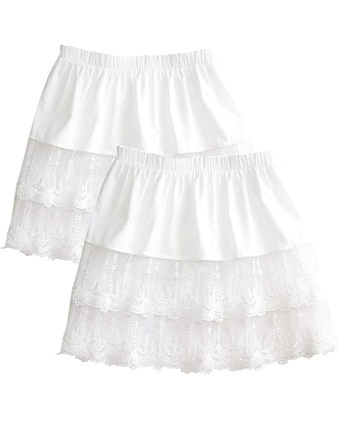 Women's Lace Extender Mini Lace Skirts Half Slip Extra Length Plus Size