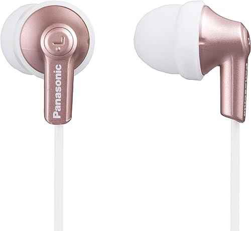 Panasonic in-Ear Headphone, Rose Gold, (RP-HJE120PPN) (RP-HJE120-N)