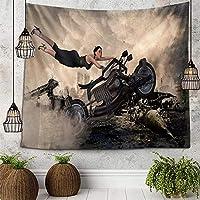 ホーム寮の壁の装飾のタペストリー3D印刷オートバイの絵画タペストリー壁掛けベッドスプレッドビーチタオルテーブルクロスヨガマット51x59インチ