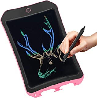 Spring& color LCD writing board for children's toys for 3-12 year old girls, 8.5 inch drawing and writing board with lock erase button. Best Christmas gift (Pink-hc)