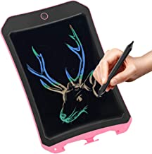 Spring& Upgraded Colorful Screen 8.5 Inch Electronic Writing Board Doodle Board-Best Gifts for Kids & Adults (Pink)