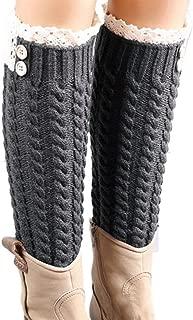 Winter Warm Knitted Socks Leg Warmers Boot Crochet Long