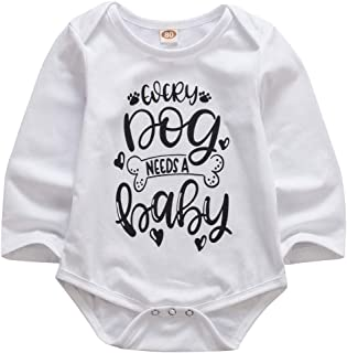 0-18M Toddler Baby Boys Girls Long Sleeves Romper Bodysuit Cotton Casual Jumpsuit Pajamas
