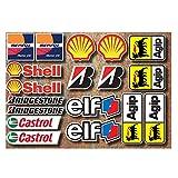 Ti El Es 18 PVC Aufkleber Set Motorsport Rennsport Motorrad Auto Racing Laminiert Sticker Moto GP...