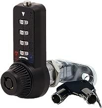 Combi-Cam Ultra, 7432L-Black & Keys, Combination Cam Lock with Master Key Override, 1-1/8