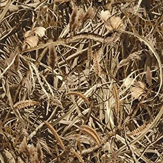 Marsh Camo Camouflage Leaves Branches Twigs Brush Fleece Fabric Print by the Yard o37146b